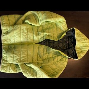 Lime Green Puffer Spring jacket
